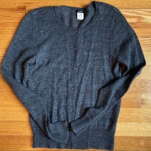 J. Crew Cardigan with Clear Buttons Med